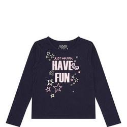 Girls Slogan Long Sleeve T-Shirt