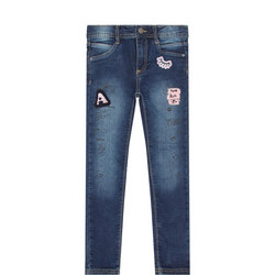 Applique Skinny Jeans