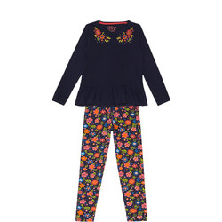 Girls Ruffled Floral Outfit Set