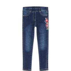 Floral Pattern Jeans