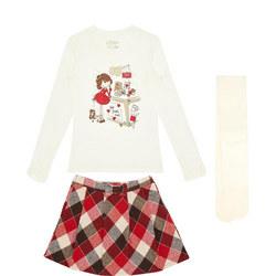 Tartan Top & Skirt Set