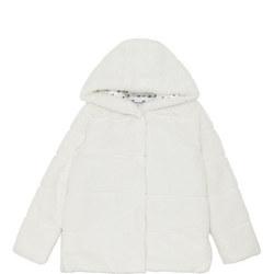 Girls Hooded Faux Fur Coat