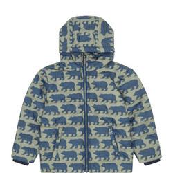 Bear Print Puffa Coat