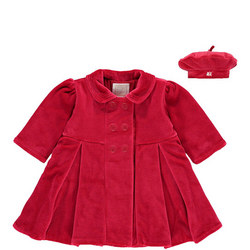 Nancy Velour Coat & Beret Set