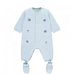 Nevin Embroidered All-In-One With Booties