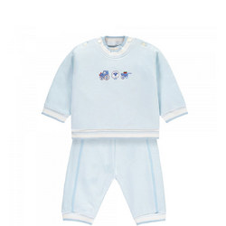 Newton Embroidered Two-Piece Set