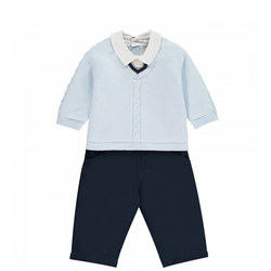 Boys Cotton Trouser Set
