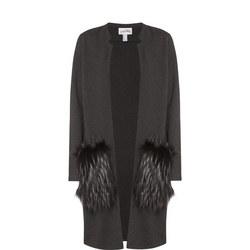 Faux Fur Pocket Coat