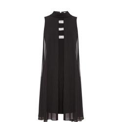 Cape Sleeveless Dress