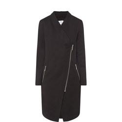 Long Sleeve Zip-Through Coat