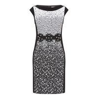 Textured Cap Sleeve Dress