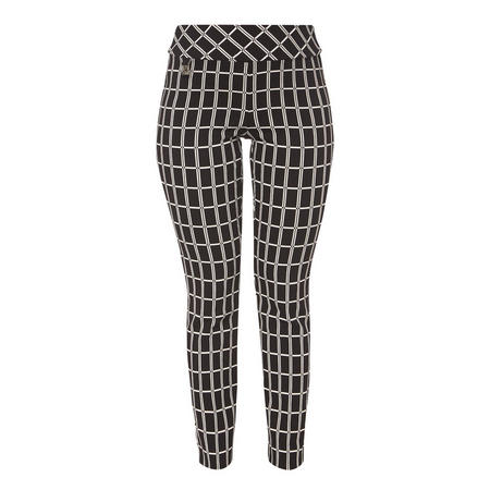 Straight Fit Patterned Trousers