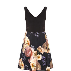 Floral Fit & Flare Sleeveless Dress