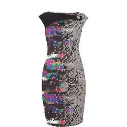 Pixel Pattern Pencil Dress