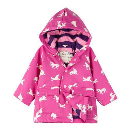 Babies Unicorn Print Raincoat