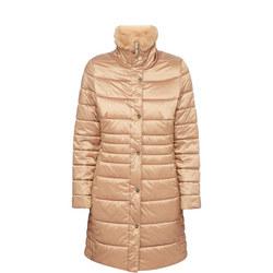 Fur Collar Quilted Coat