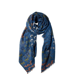 Flower Print Cotton Scarf