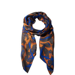Dots And Lines Silk Scarf