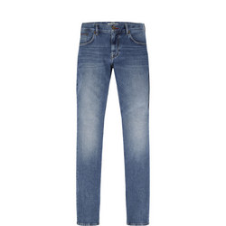 Straight Fit Mid Wash Denton Jeans