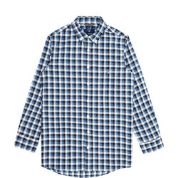Boys Gingham Long Sleeve Shirt