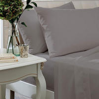 Egyptian Sateen Silver 400TC Pillowcases and Sheets