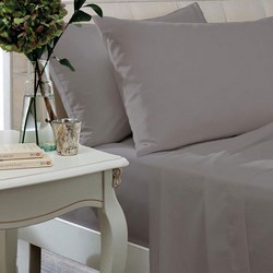 Egyptian Sateen 400 Thread Count Fitted Sheet Silver