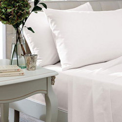 Egyptian Sateen White 400 Thread Count Fitted Sheet Set