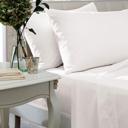 Egyptian Sateen White 400 Thread Count Fitted Sheets