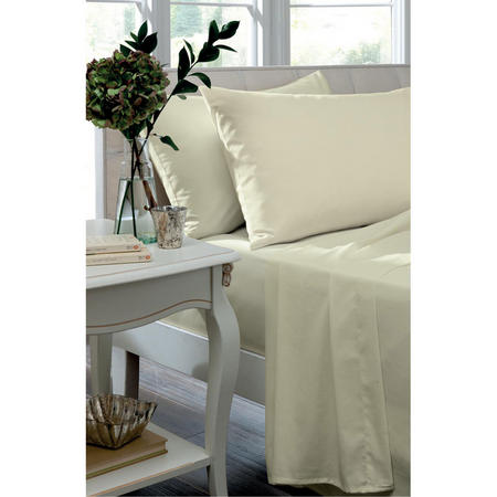Percale 200 Thread Count Oxford Pillowcase Ivory