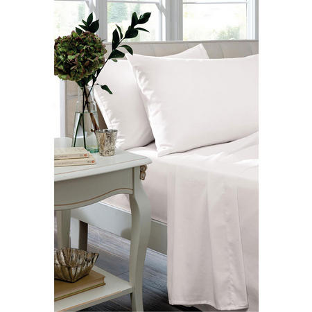 Percale 200 Thread Count Oxford Pillowcase White