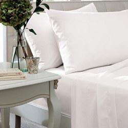 Egyptian Sateen 400 Thread Count Housewife Pillowcase White