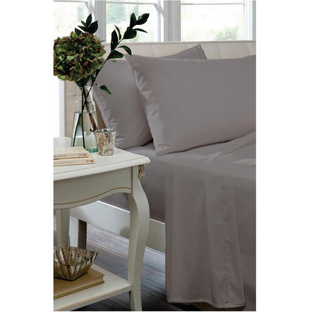 Percale 200 Thread Count Flat Sheet Silver