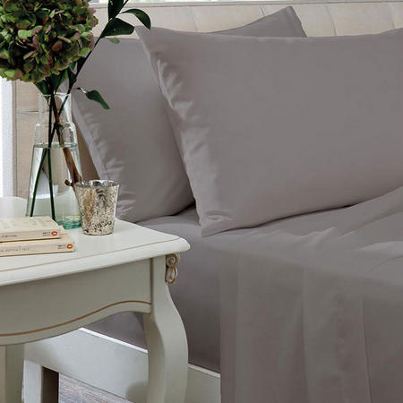 Percale 200TC Silver Pillowcases and Sheets