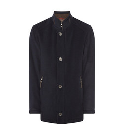 Leather Trim Military Jacket