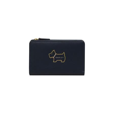 Outline Dog Medium Wallet