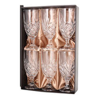 Crystal Stemmed Glass Set of 6