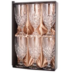 Crystal Stemmed Glass Set of 6