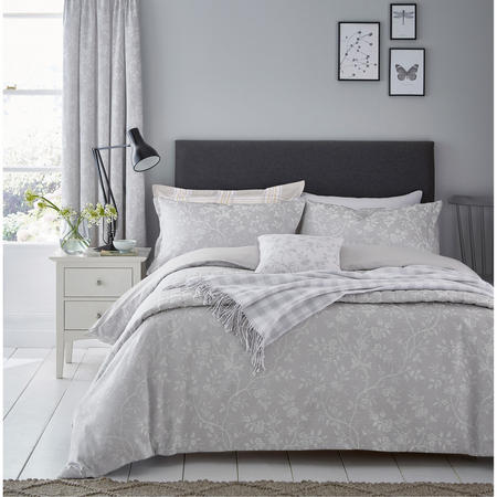 Ida Blossom Grey Coordinated Bedding