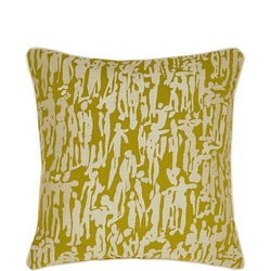 People Cushion Chartreuse