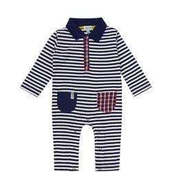 Stripe Pockets Babygrow