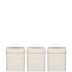 Storage Set Tea Coffee Sugar 3Pc