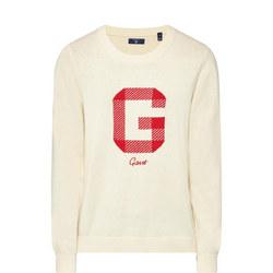 Crew Neck Logo Sweater