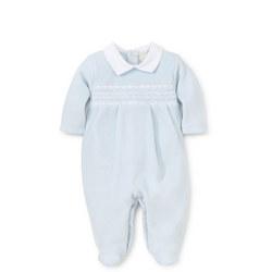 Smocked Velour Babygrow