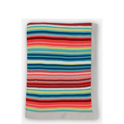 Bright Stripes Knitted Blanket