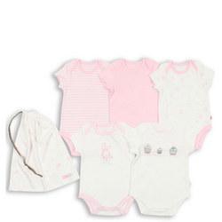 Five-Pack Pastel Bodysuits