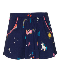 Girls Unicorn Print Skirt