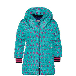 Girls Star Print Quilted Coat