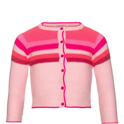 Girls Striped Cardigan