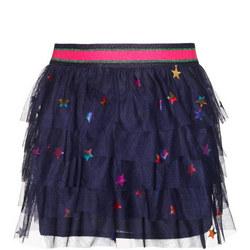 Girls Star Layered Tulle Skirt