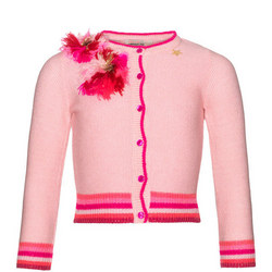 Girls Rosette Cardigan